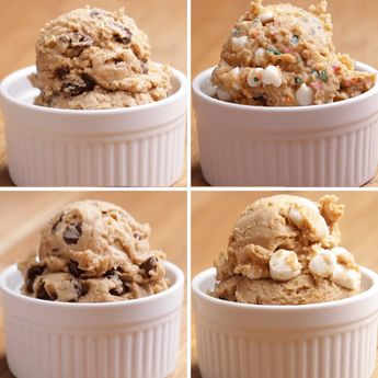 "Healthier Edible ""Cookie Dough"" 4 Ways #reduceweight"