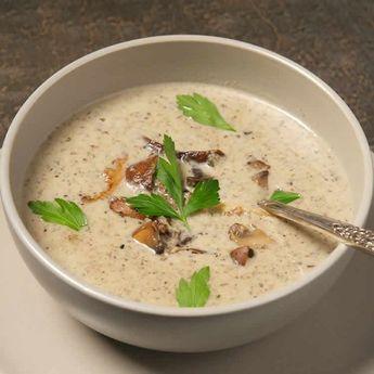 Soupe champignons et poireaux au thermomix - votre diner thermomix.