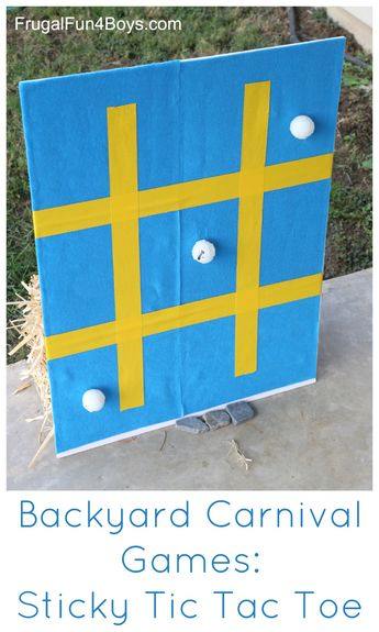 Backyard Carnival Games for Kids: Sticky Tic Tac Toe