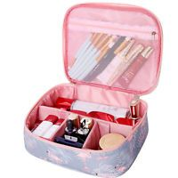 Details about Makeup Cosmetic Bag Travel Case Toiletry Beauty Organizer Zipper Holder Handbag