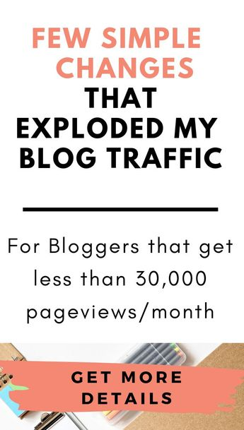 """Most bloggers think they have to make a BIG change to see a huge difference in traffic...but that's not true, there are a few simple changes that can explode your traffic...  Getting """"that"""" literally changed my life  I've written a detailed blogpost about this, hope you find it as super helpful as I did."""