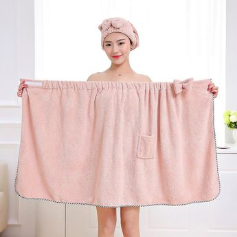 Hair Bows Tube Top Bath Skirt Adult Woman Sexy Super Absorbent Gown Beach Towel Set Towelling Bathrobe Can Girls Clothes Towels. Yesterday's price: US $25.80 (23.05 EUR). Today's price (December 19, 2018): US $13.16 (11.74 EUR). Discount: 49%. #Home #Textile #towels #clothes