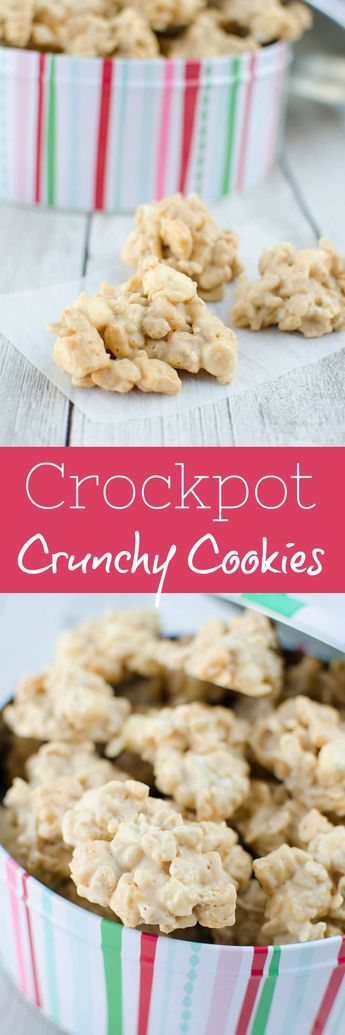 Crockpot Crunchy Drop Cookies