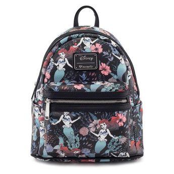 f38721d7930 Buy Loungefly Disney Ariel Little Mermaid Under the Sea Floral Mini Backpack  Purse