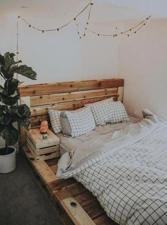 This queen size bed inspires creatives and helps make the bedroom better represent you. No assembly required. Spend time enjoying the bed, not assemblin... #bedroominspo