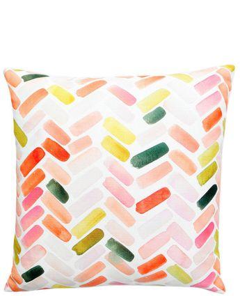 Herringbone Brushstroke Pillow