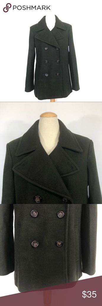 official photos 733aa 5f819 Spotted while shopping on Poshmark  NWT Old Navy green peacoat M!  poshmark