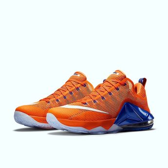 99f2818dec93 Mens nike lebron james xii low (12) the twelve basketball shoes 724557  orange 13
