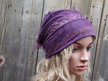 d1abfbd0cbb Women Slouchy Hat, Hand Painted Hat, Chemo Headwear, Chemo