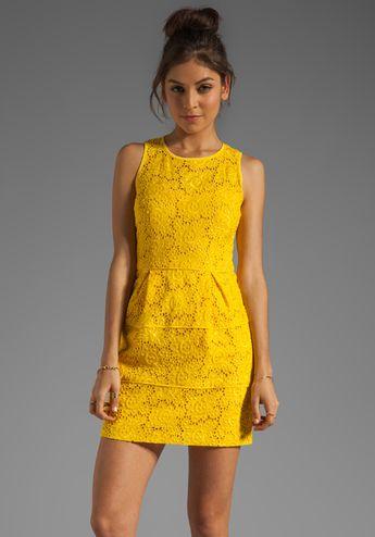 NANETTE LEPORE Sierra Madre Lace Treasure Dress in Sunshine