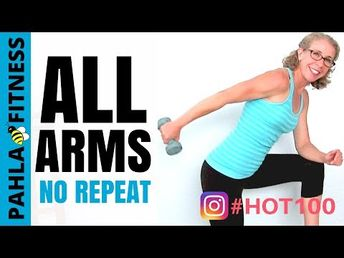 All ARMS No Repeat 10 Minute DUMBBELL Workout   HOT 100 Challenge Day 7