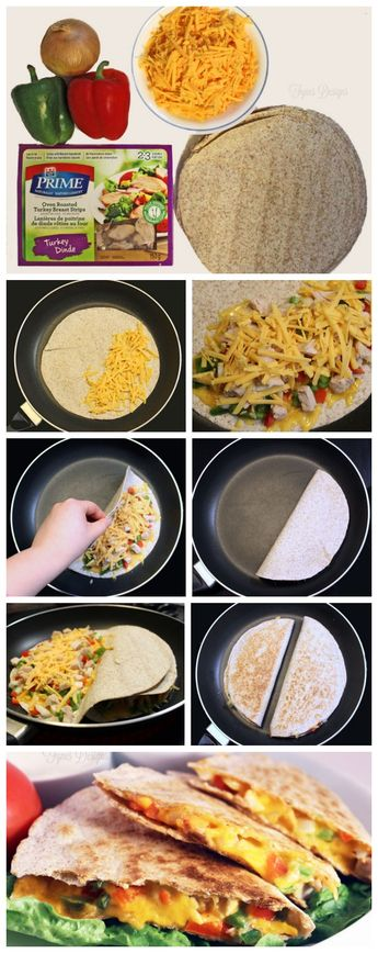 Easy Cheesy Chicken Quesadillas
