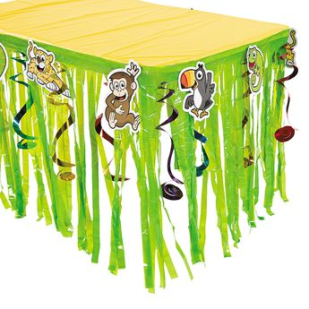 Jungle Journey Table Skirt With Cutouts - OrientalTrading.com $8.00 each