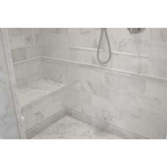 """Ivy Hill Tile Oriental 6"""" x 12"""" Marble Field Tile in White"""