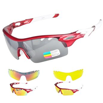 d29050491b7 Cycling Sunglasses- Polarized Sports Sunglasses for Cycling- Driving -  Climbing- Golf - Red