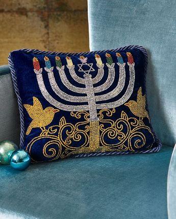 Gorgeous Hanukkah Pillow!!