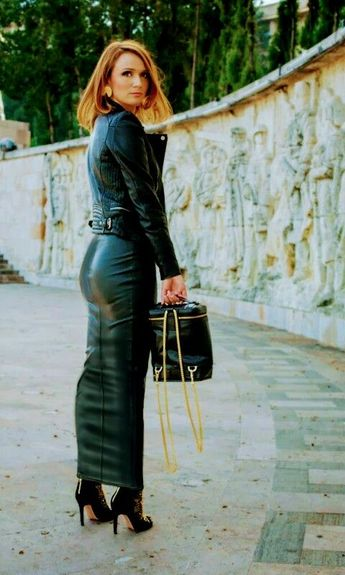 aa0338374 If she wants to wear a long leather Hobble skirt, she'll w