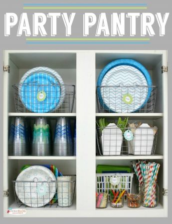 Party Pantry for Party Supplies