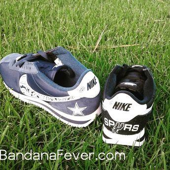 06b5ae7e Bandana Fever Bandana Dallas Cowboys Print Custom Navy/White Nike Cortez  Shoes