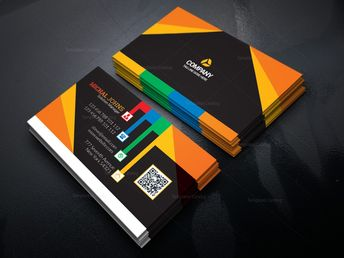 Colorful Stylish Business Card Design Template 001634 - Template Catalog