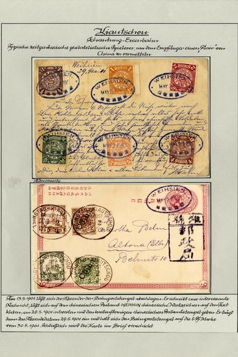 GERMAN OFFICES IN CHINA, 1895/1914 The relationship between China and Germany documented in a handsomely written up collection in two volume...