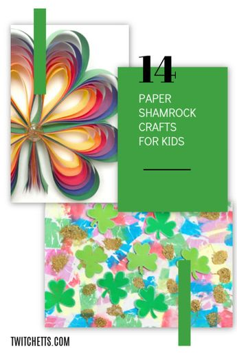 How To Make 3d Rainbow Colored Paper Shamrocks
