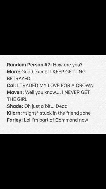 Reasons: •Ptolemeus killed Shade •I just wanna se Maven hap