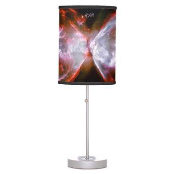 Monogram, Butterfly Nebula in Scorpius space image Desk Lamp   Zazzle.com