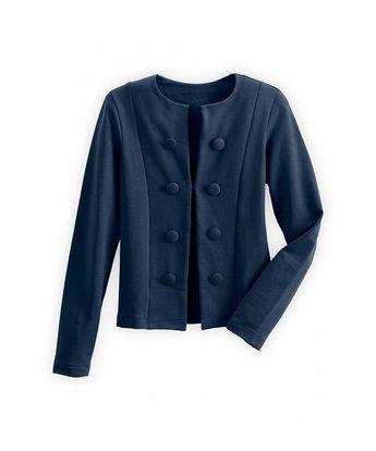 Organic Button Jacket - Dark ocean - CH12CGQRE0V