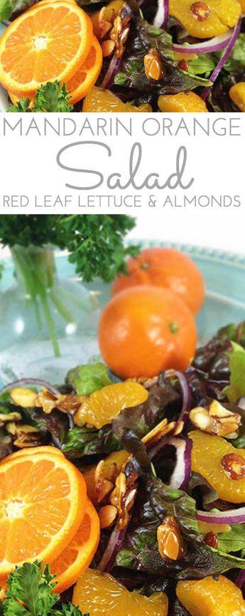 Mandarin Orange Candied Almond Salad