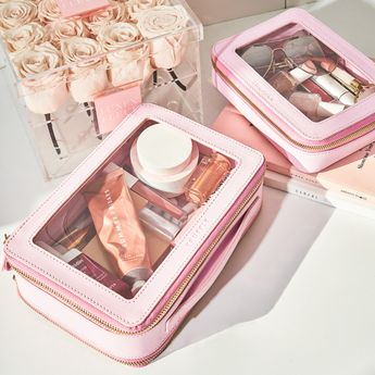 it's here! meet Power Pink, inspired by the bright Spring and Summer runways. But it's a limited edition collection, so don't delay. #clearlydelightful   #jetsetcase #clearbag #travelbag #makeupbag #cosmeticbag #toiletrybag #travelcase #tsaapproved #ecofriendlyplastic #mytruffle