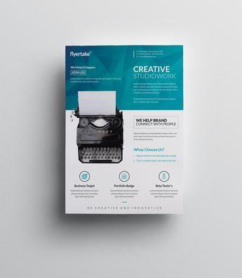 Ocean Elegant Premium Business Flyer Template - Graphic Templates