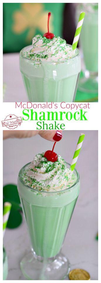 Easy {McDonald's Copy Cat} Shamrock Shake Recipe