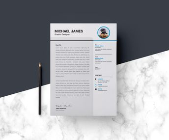 Minimalist Resume Design 002732 - Template Catalog
