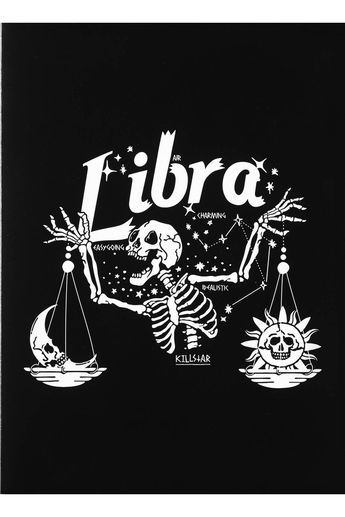 Libra Greeting Card [B] | KILLSTAR - US Store LIBRA.Born an Air sign - the Libra strives for harmony, gentleness, sharing with others and absolutely adores the outdoors. They are charming, idealistic and easy going. Add some astrological vibes to the birthday party, get-well-soon or simply I miss-ya note - whilst matching yer soul perfectly. Blank inside so u can write, doodle, paint it black, cover it in glitter or whatever! #zodiac #horoscope #starsign