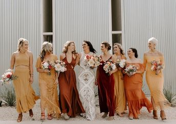 Trending: 15 Ideas for Burnt Orange Bridesmaid Dresses for 2019