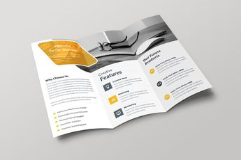 Minsk Professional Creative Tri-fold Brochure Design 001691 - Template Catalog