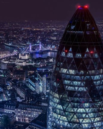 "🇬🇧 London 📍 UK 📍 Europe 🇪🇺 on Instagram: ""🇬🇧 Night views from #DuckandWaffle 🤩 🇬🇧    #TowerBridge #TheGherkin ======================================== 🔵@London 🔴 @Instagram 🔵…"""