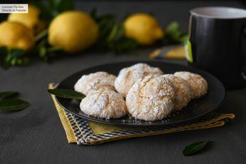 Galletas craqueladas de limón, vídeo receta de cocina fácil, sencilla y deliciosa