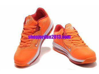 huge discount b38dc 4ba7b Nike Air Max LeBron 9 Low Shoes Orange Red Lebron James Shoes 2013  Orange