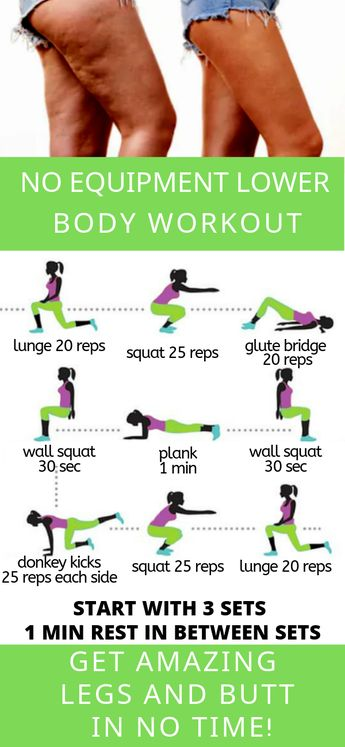 Lower Body Workout No Equipment Needed