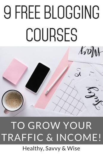 9 blogging courses that are excellent -- and they are free! Take advantage of learning from the best bloggers who make a lot of money with blogging. #blogging #courses #resources #blog #blogger #makemoney #income #work