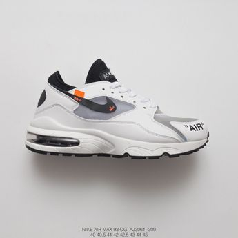 best authentic 3d64b e8fb8 Off-White Fsr Nike Air Max 93 Vintage Air Short Sleeve Jogging Shoes Black  And