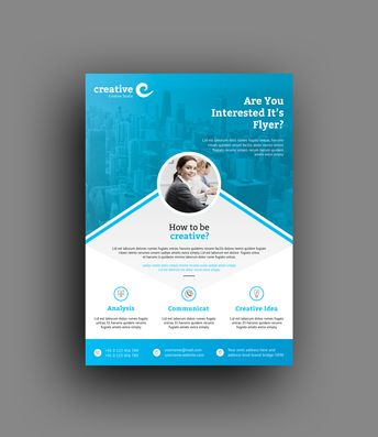 Seattle Professional Business Flyer Template - Graphic Templates