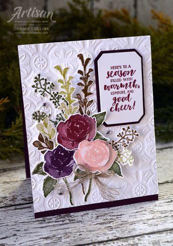 Artisan Design Team Blog Hop - Frosted Floral Suite