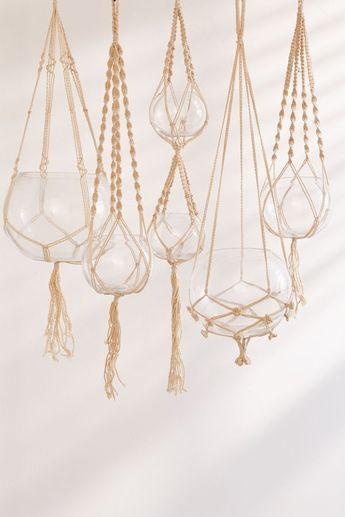 Hanging Macramé Terrarium - Set Of 5