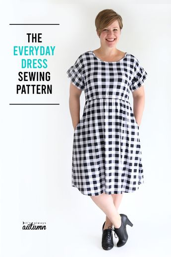 The Everyday Dress sewing pattern + ruffled sleeves
