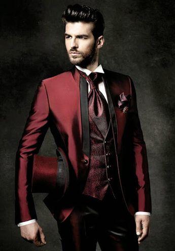 New Arrival Slim Fit Groom Tuxedos Mandarin Lapel Men'S Suit Burgundy Groomsman/Best Man Wedding/Dinner Suits Jacket+Pants+Tie+Vest J920 Tailcoats Tuxedos For Wedding From Wholesalers888, $85.43| DHgate.Com