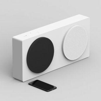 Check this out on leManoosh.com: #Asymmetrical #Black / White #Button #Ergonomics #LED #Logo #Minimalist #Native Union #Quinn Fitzgerald #Speakers #White