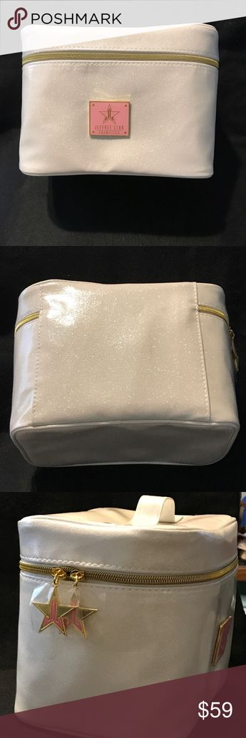 JeffreeStar LimitedEdition GlitterWhite Travel Bag Jeffree Star Glitter White Travel Makeup Bag BNIB AUTHENTIC  Shipped with USPS First Class Package. Bags Cosmetic Bags & Cases